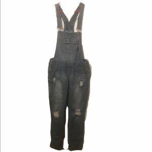 Rue 21 distressed overalls sz 7